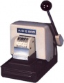 ABE 800 NC Manual 2 Line Perforator 6 Wheel Number plus Top or Bottom Fixed Text to 6-7 Chars/Line - FREE SHIPPING!