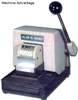 ABE 800-3 Manual 3 Line Perforator PAID, DATE and Fixed Text Bottom Line up to 6-7 Characters - FREE SHIPPING!