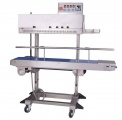 Band Sealers | Preferred Pack PP-1120LD Vertical Band Sealer with Dry Ink Coder, Right to Left Feed