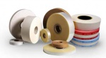 Banding Tape  | Preferred Pack Paper Tape Printed, White, 500 ft Rolls 30mm x .15mm Thick 4 Color Print
