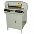 ERC 450EPVS 17.7 Inch 350 Sheet Automatic Guillotine Electric Paper Cutter with Cabinet Base - FREE SHIPPING!